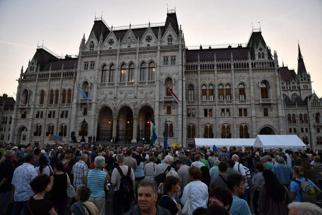 demonstration opposition Hungary