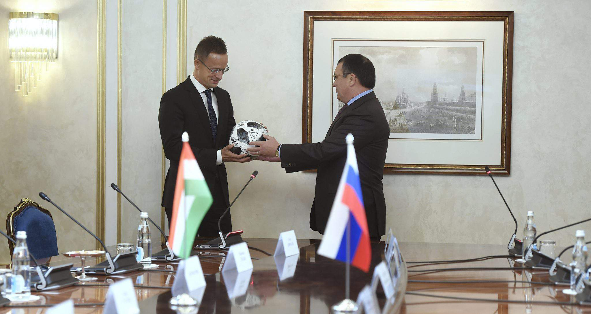 Hungarian foreign minister in Russia