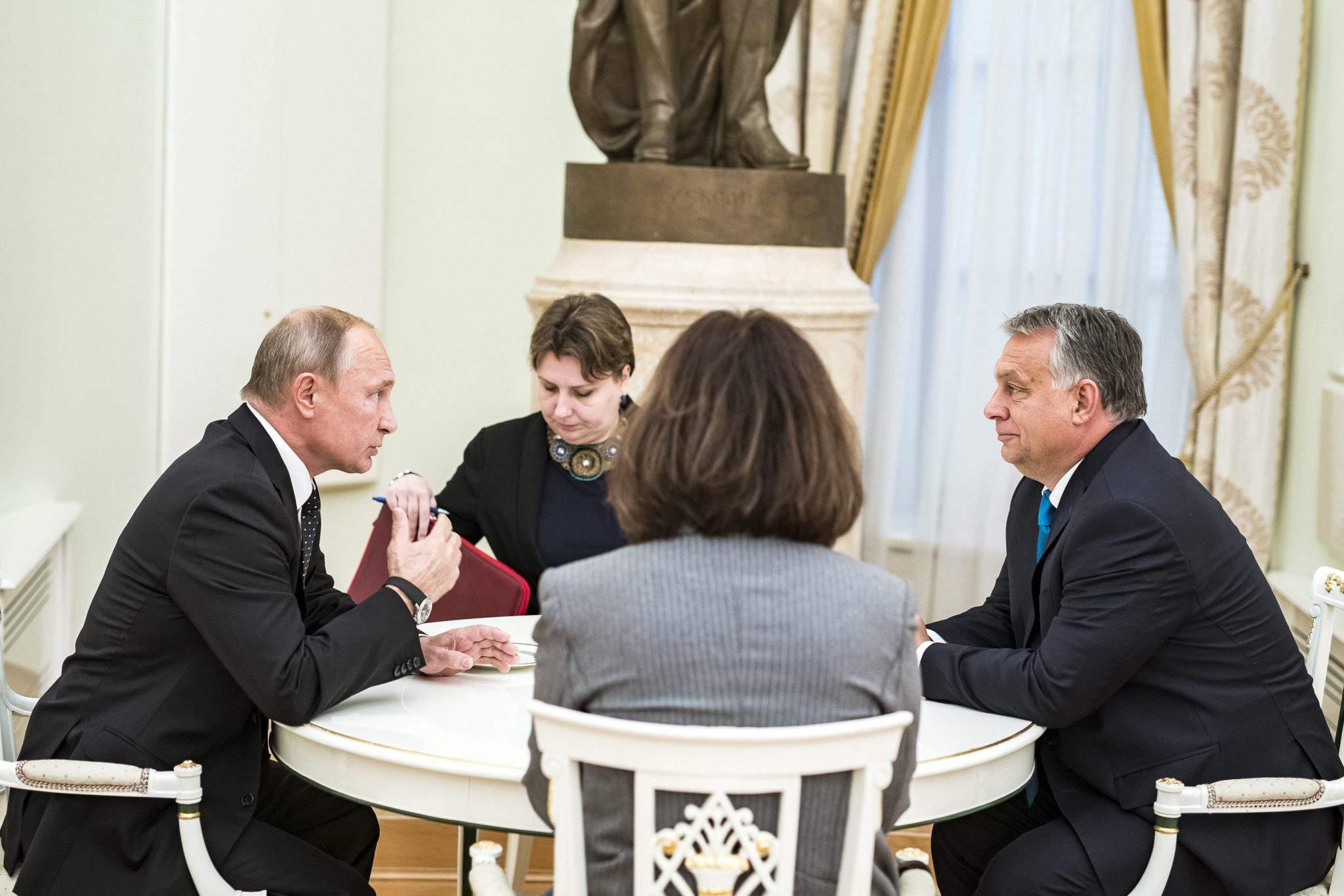 Orbán in Russia Putin