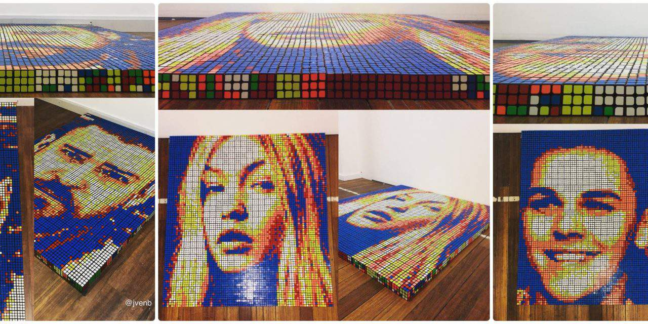 Italian guy makes wonders with the Rubik's Cube! – Photos, videos