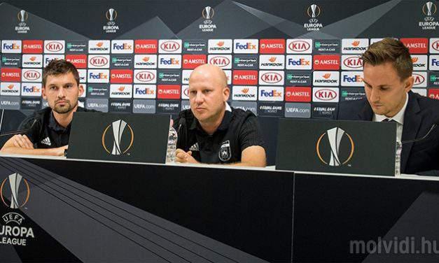 Today: UEFA Europa League match in Budapest – MOL Vidi FC vs BATE Borisov
