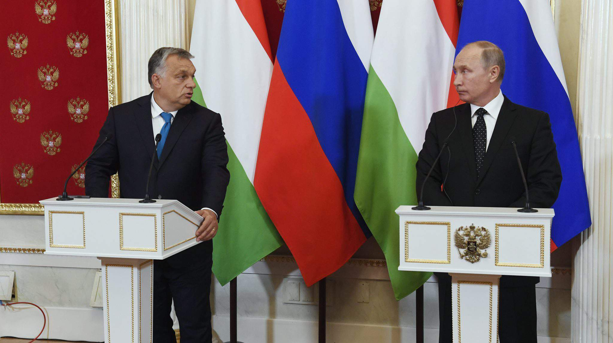 Orbán in Russia with Putin