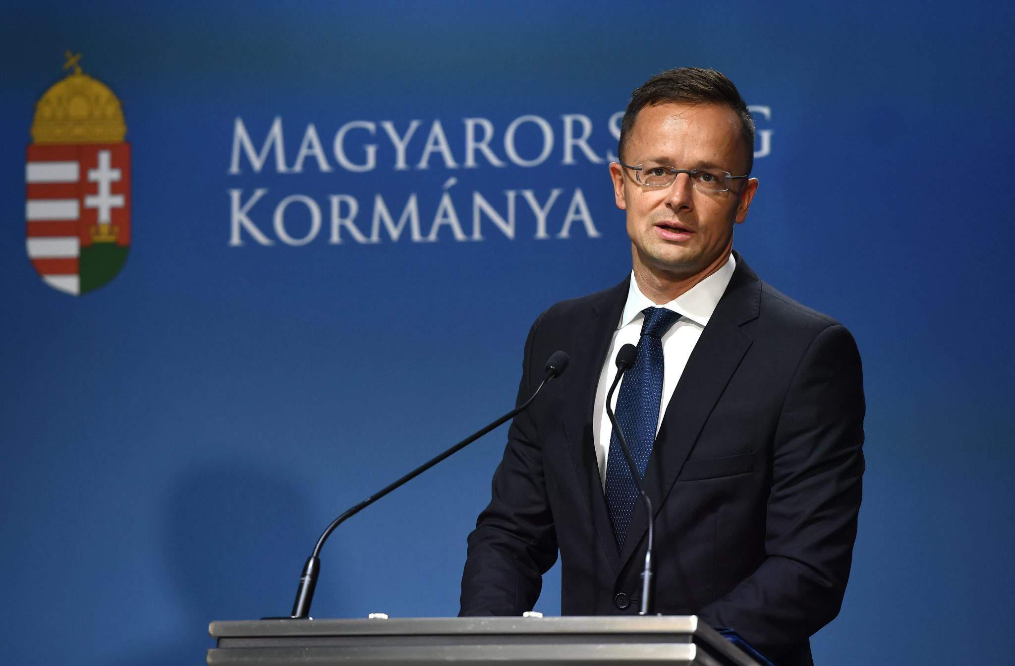 Szijártó press conference