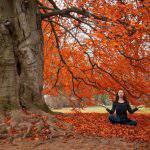 yoga autumn