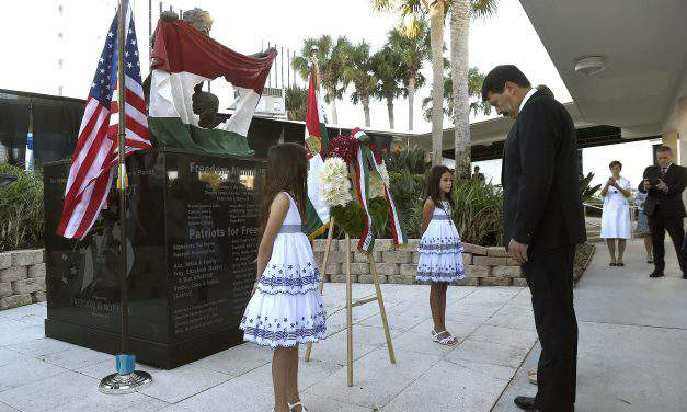 Hungarian President commemorates 1956 uprising in Florida