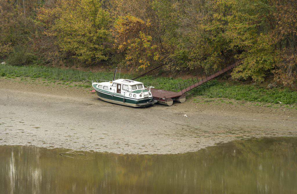 low water level Danube