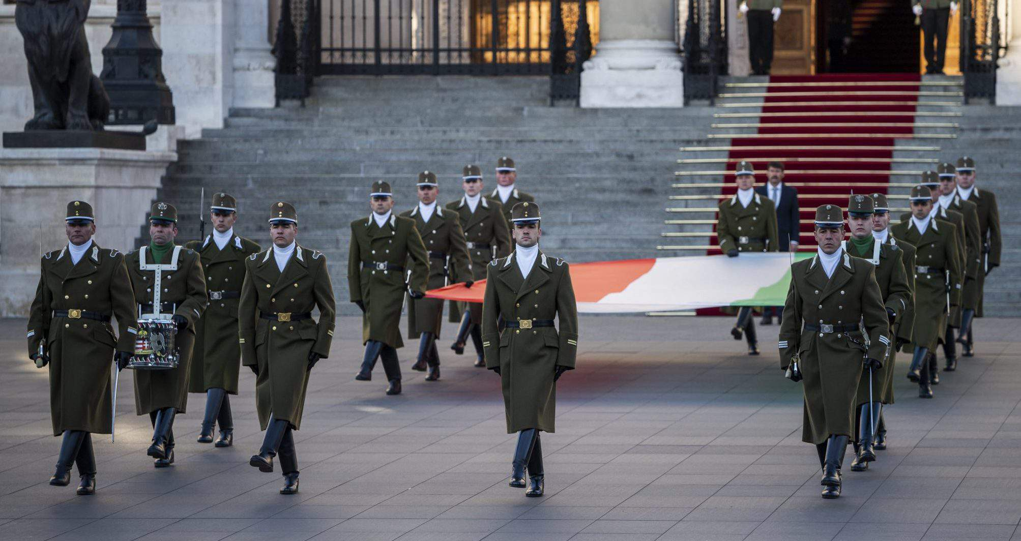 Hungarian flag commemoration