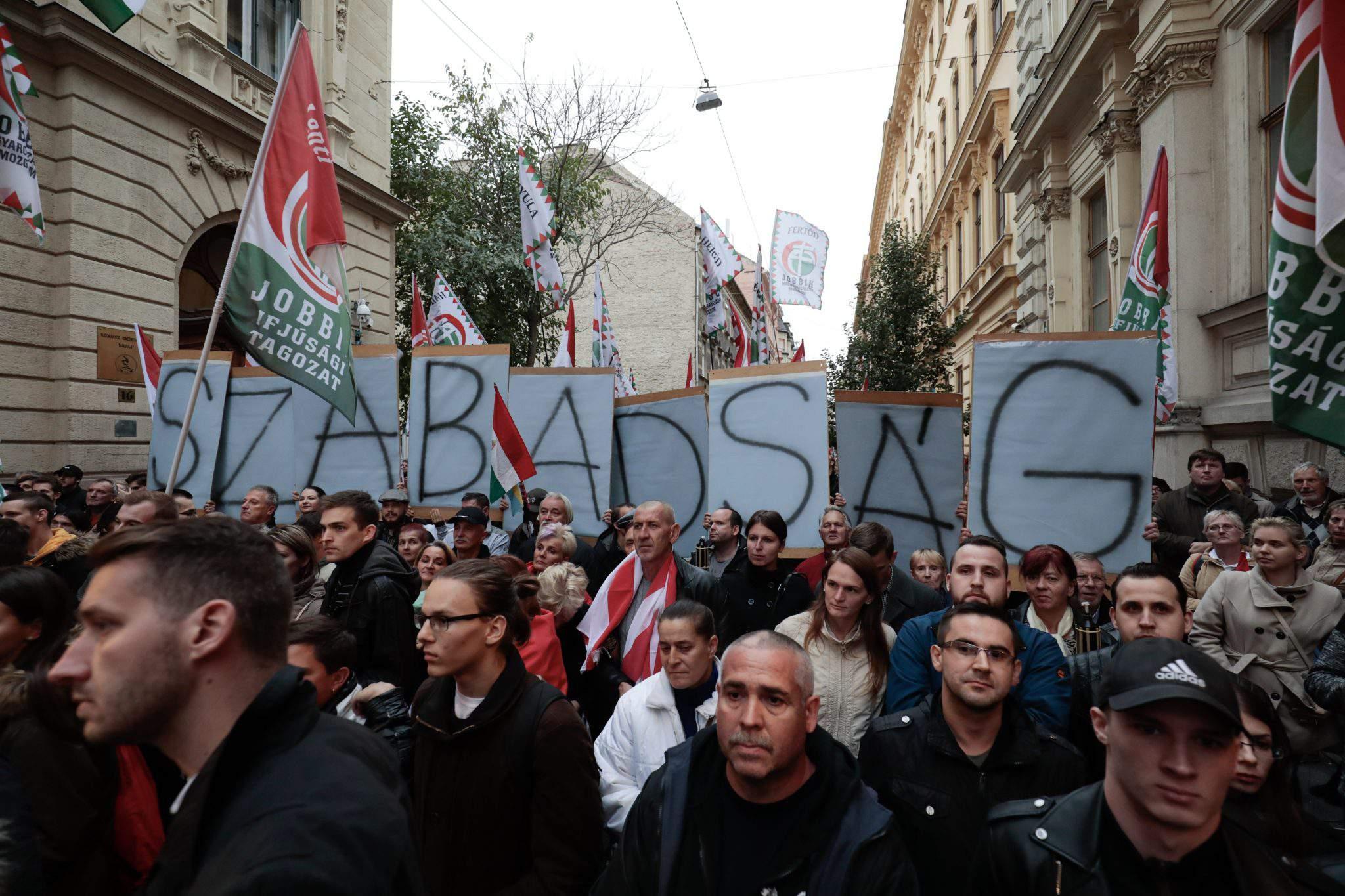 Jobbik party Hungary demonstration