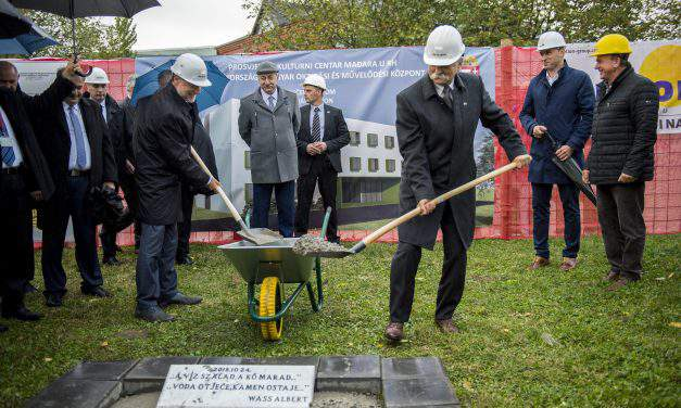 The cornerstone was laid for ethnic Hungarian centre in Osijek
