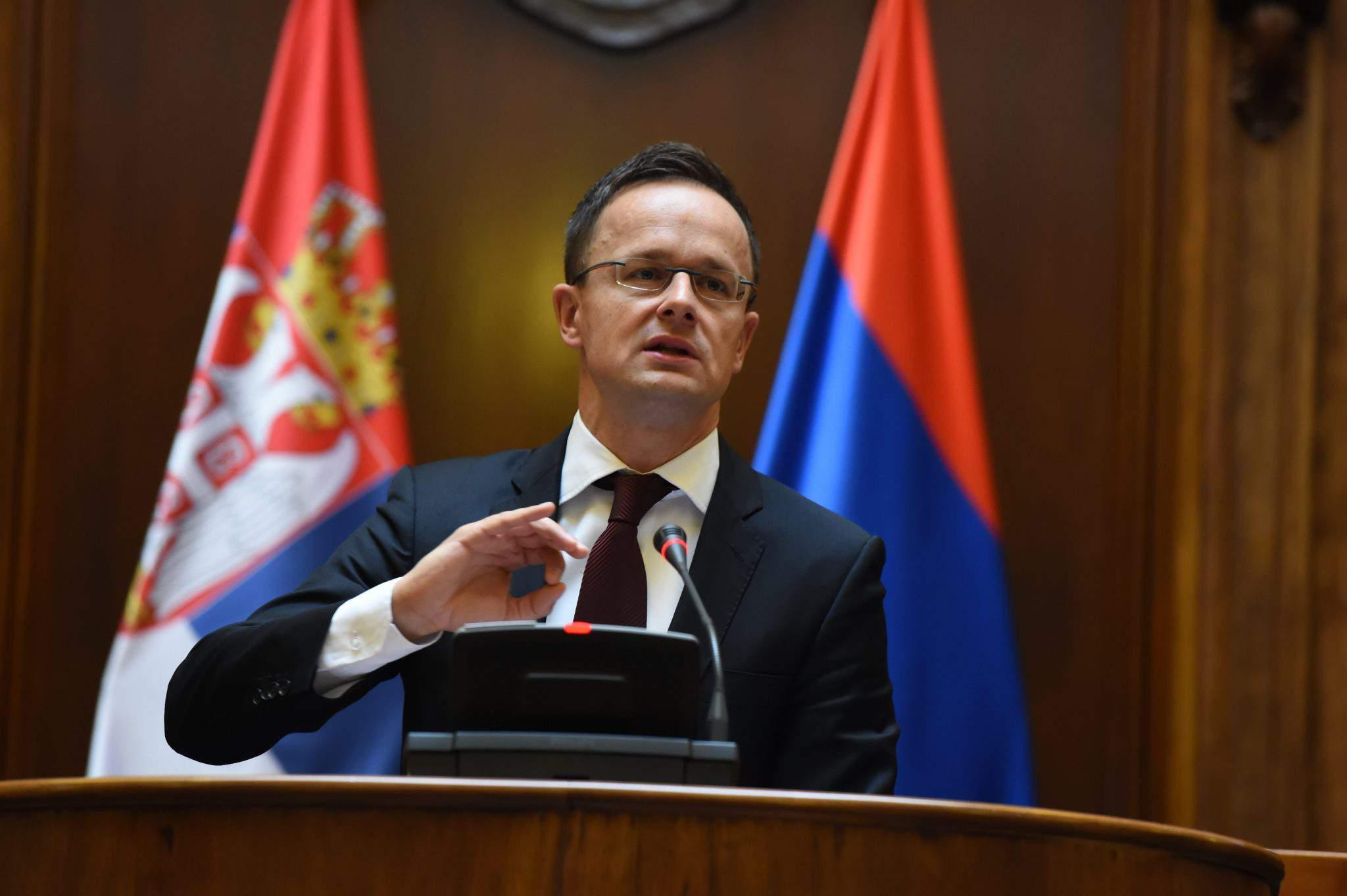 Hungary serbia foreign miniter