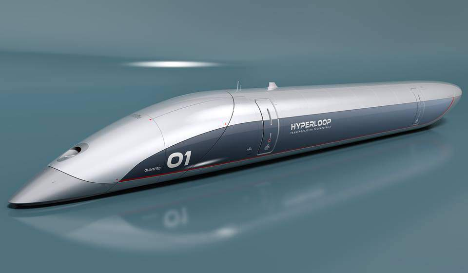 Hyperloop capsule train