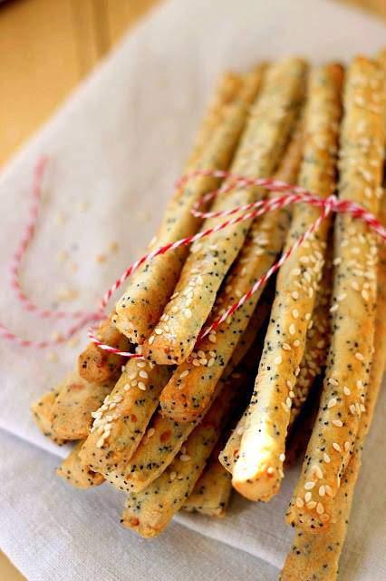 poppyseed, savoury sticks