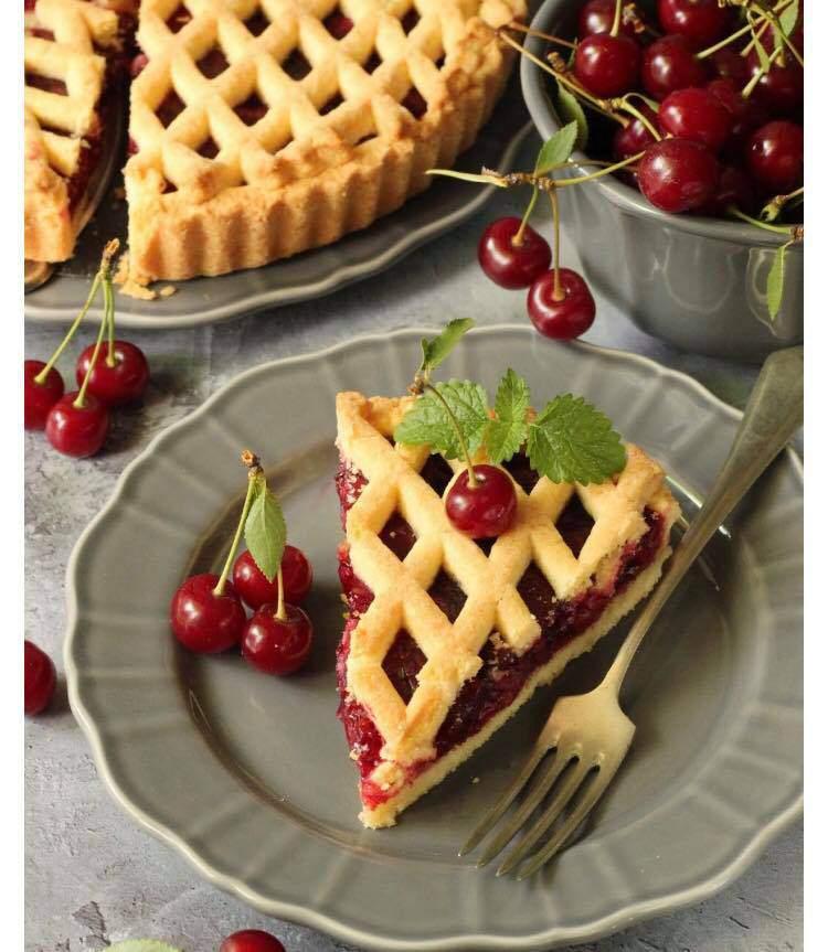 pastry, sour cherry