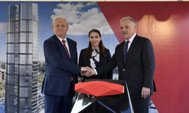 MOL lays cornerstone for new HQ a.k.a. Budapest's first skyscraper