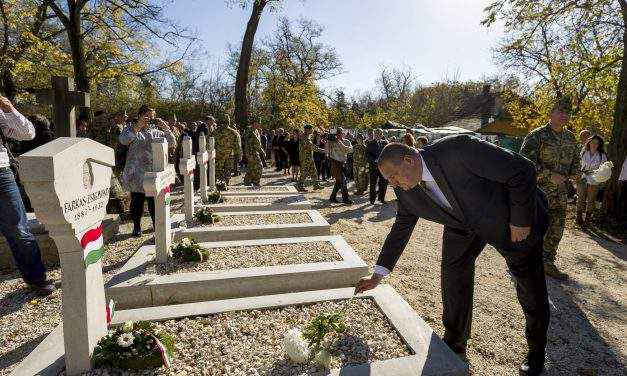 Renewed WWI soldiers' graves inaugurated in eastern Budapest's cemetery