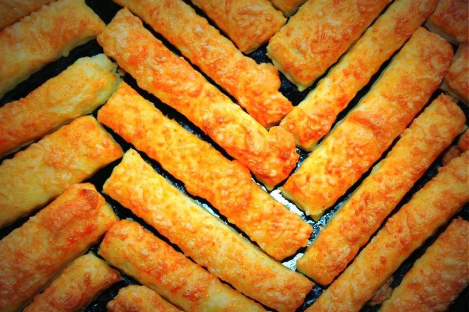 cheese sticks, savoury pastry
