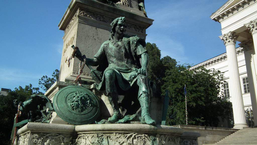 Miklós Toldi Statue Budapest