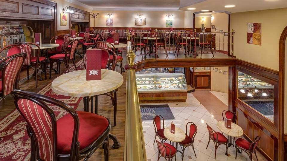 Európa Kávéház Coffeehouse Café Cukrászda Confectionery Interior Beltér