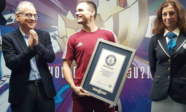 Hungarian martial artist in the book of Guinness World Records