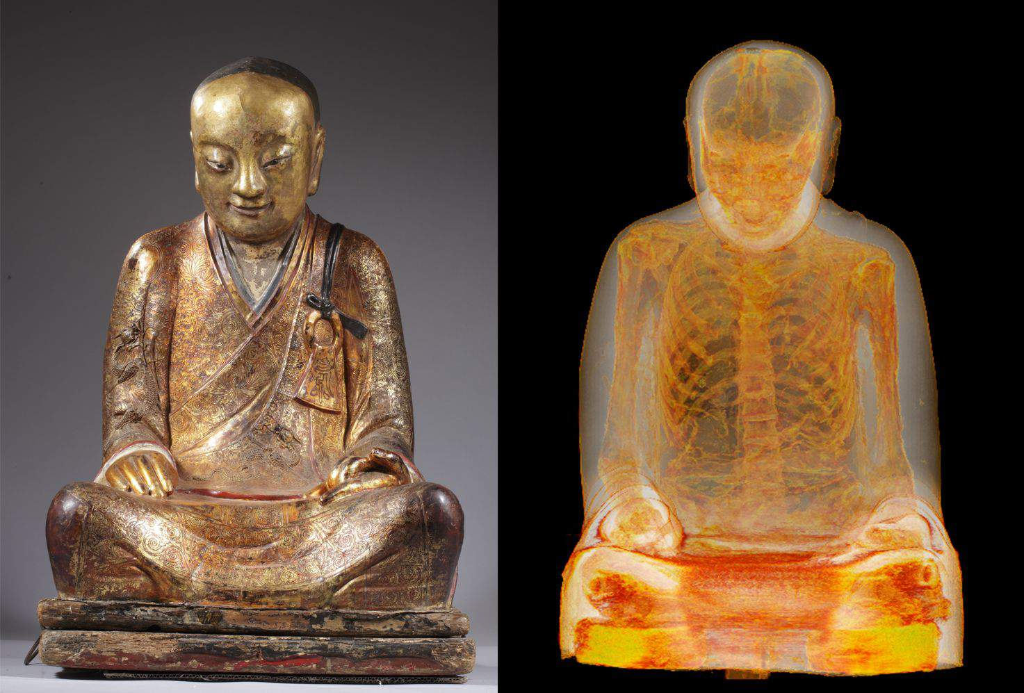 Buddha, statue, Chinese, skeleton