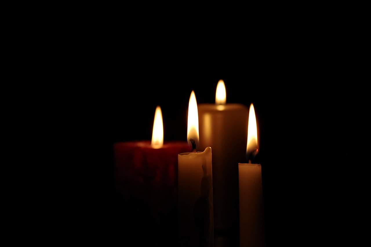 All Saints Day, candle, mourning