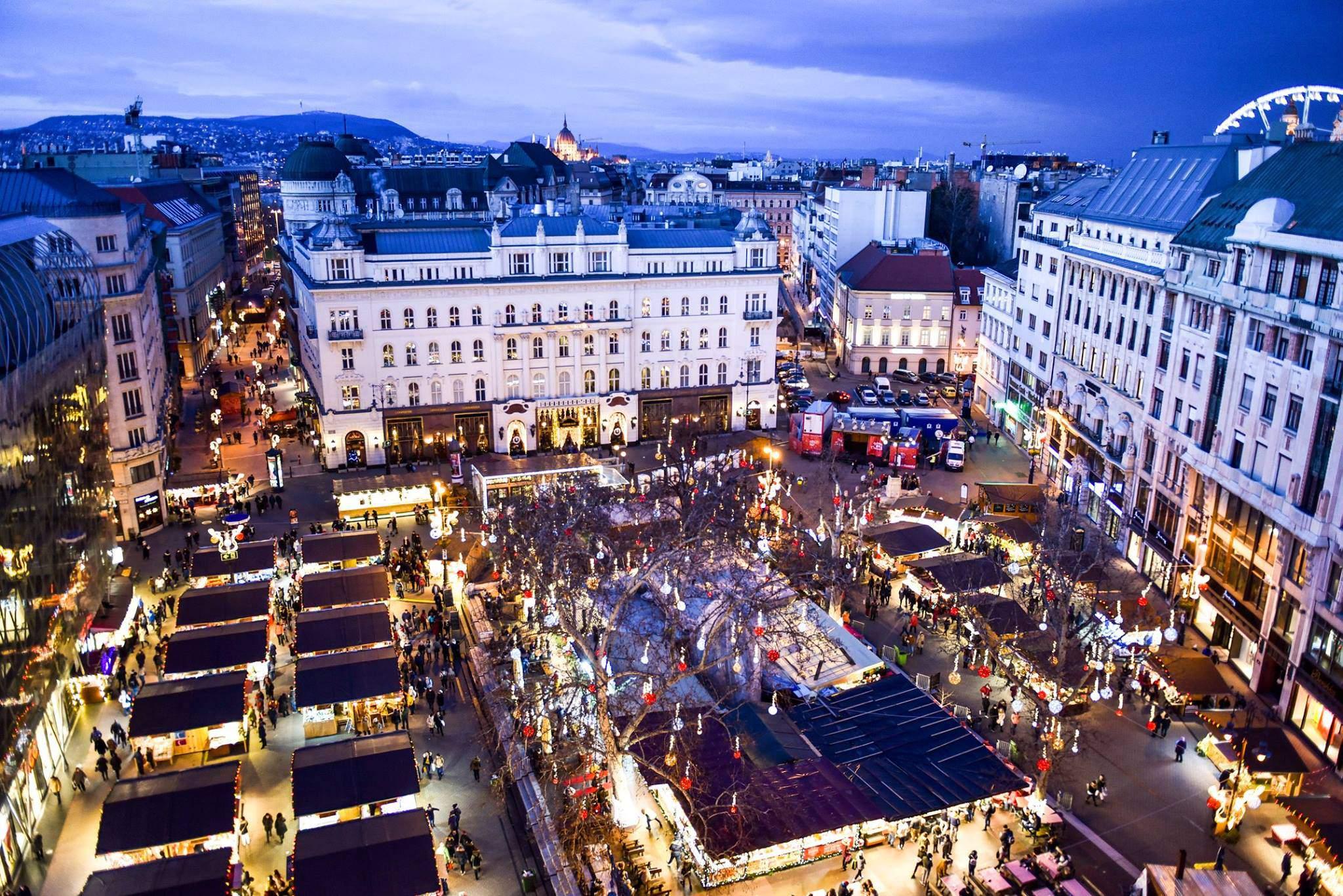 christmas, fair, Budapest
