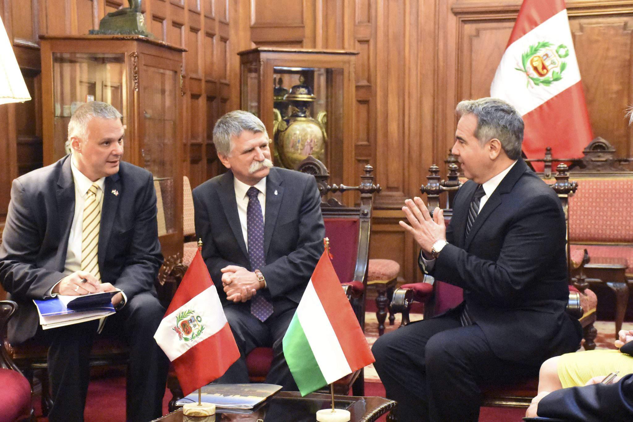 Peru Lima HUngarian House Speaker