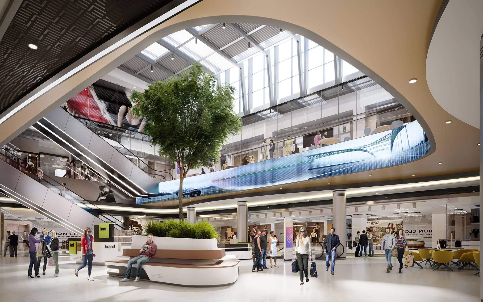 mall, inside, architecture
