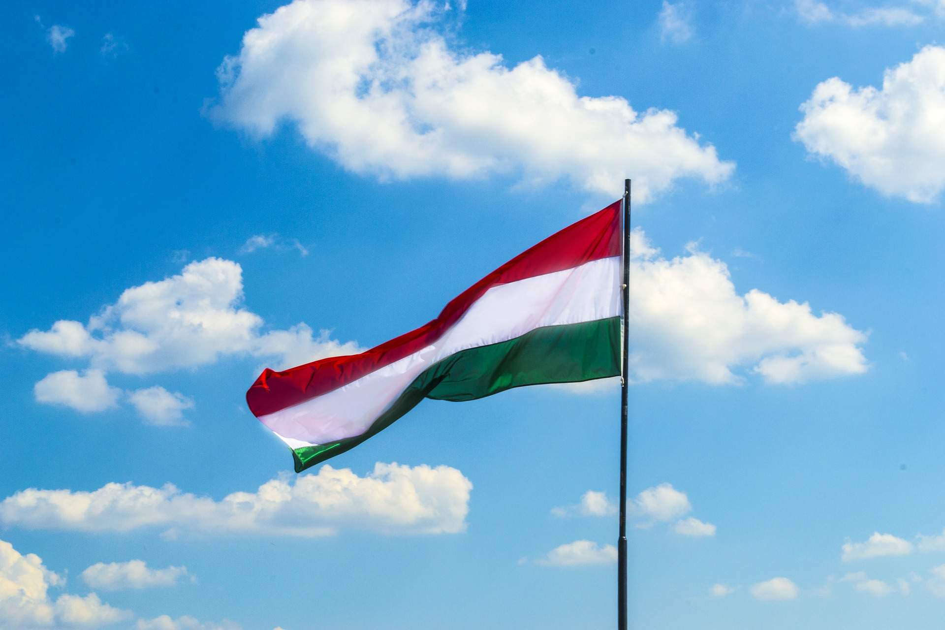 Hungary, flag, blue, sky