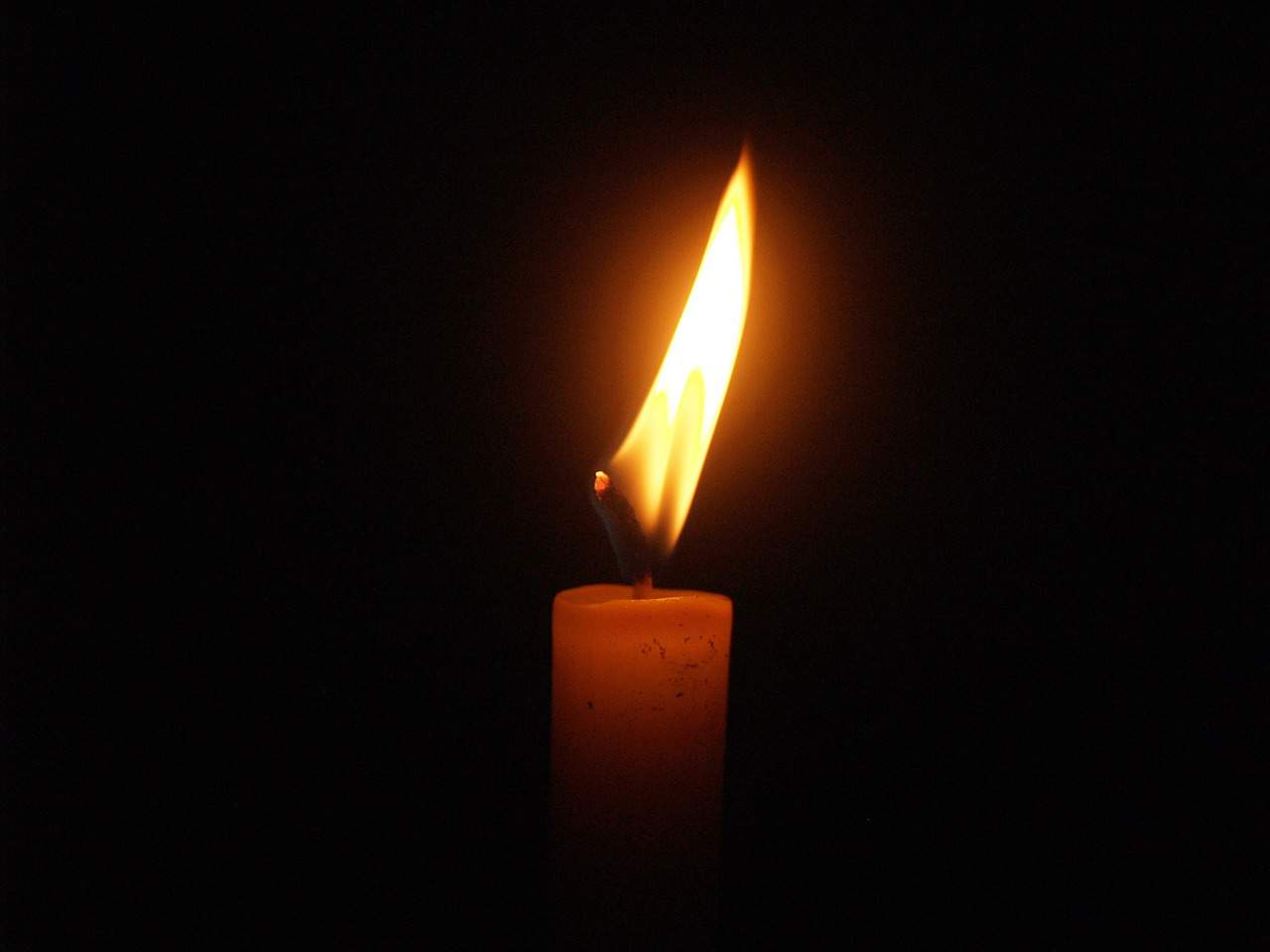 mourning, black, candle