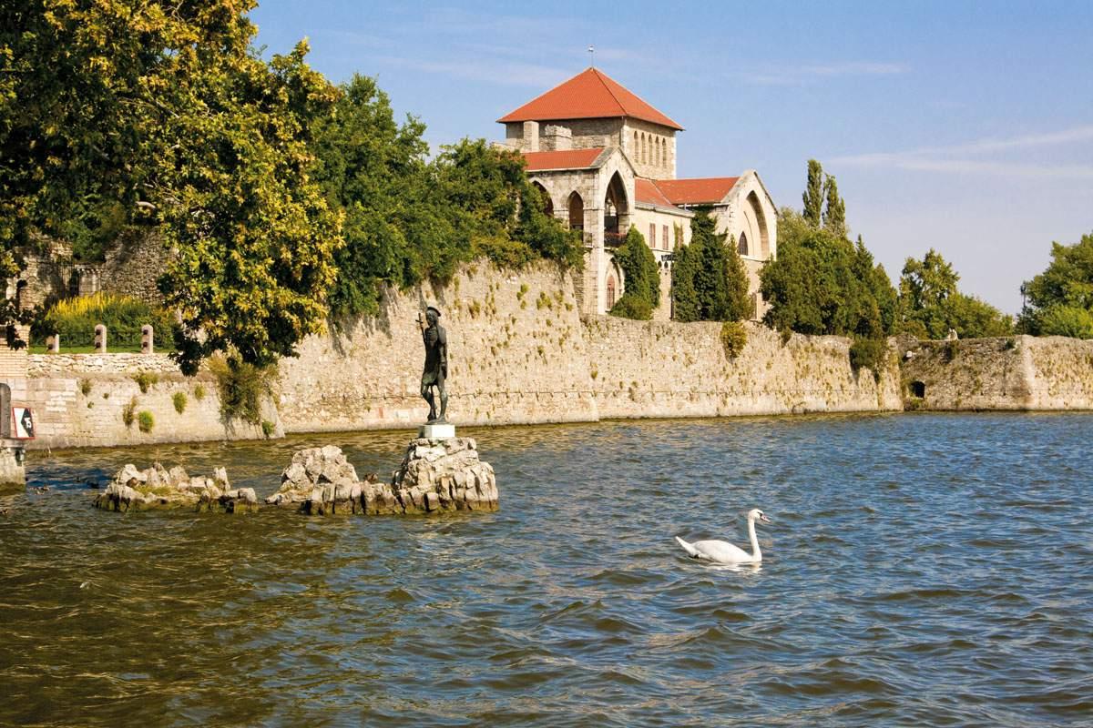 Tata, town, castle, lake