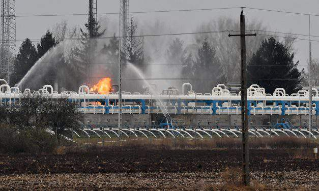 Natural gas storage facility in East Hungary on fire!