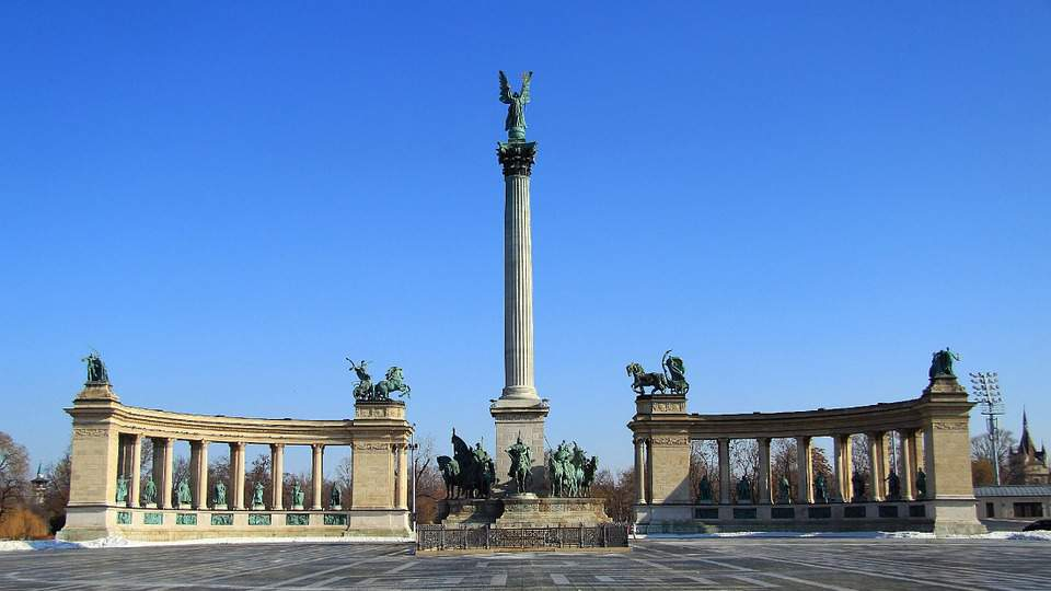 heroes, square, budapest