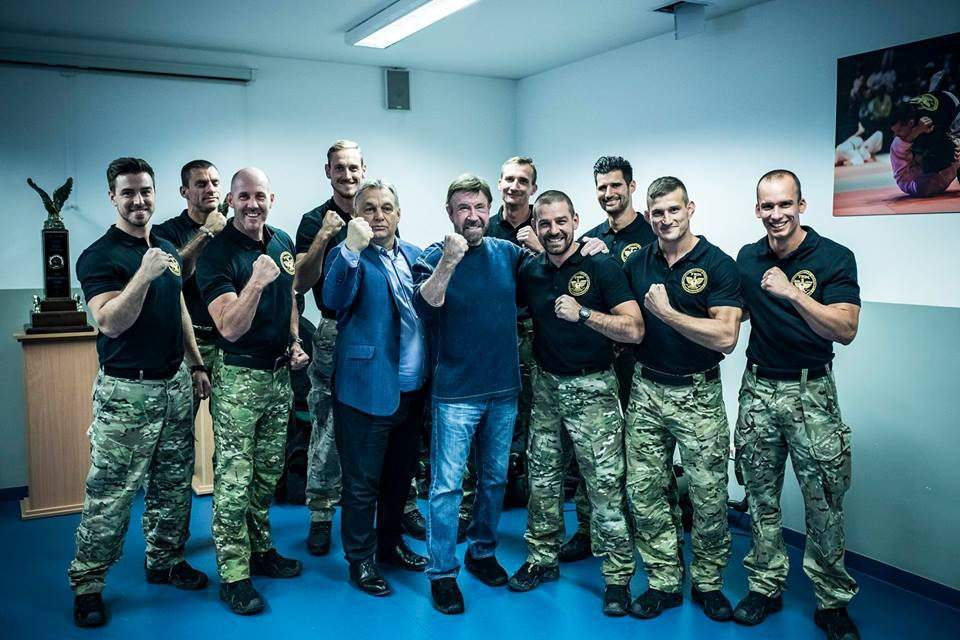"""I am a street fighter"" – said PM Orbán to Chuck Norris while riding to a TEK-base – photos, videos"
