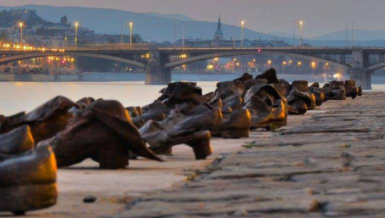shoes, danube, budapest