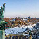 Winter Snow in Budapest