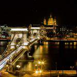 Budapest, Chain Bridge, view