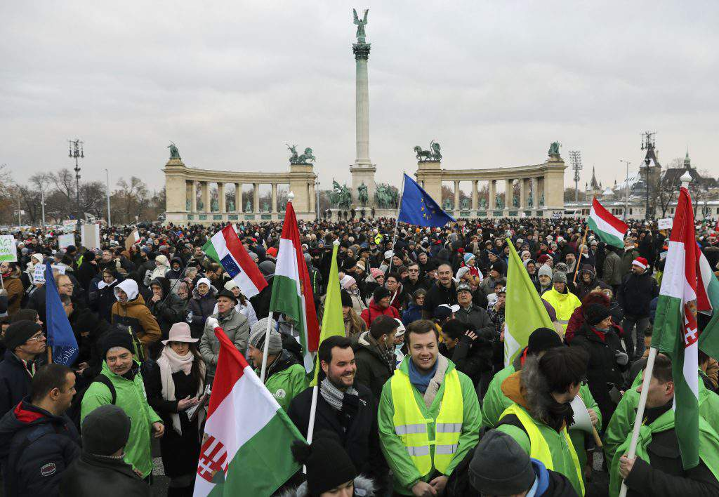 demonstration Sunday Budapest