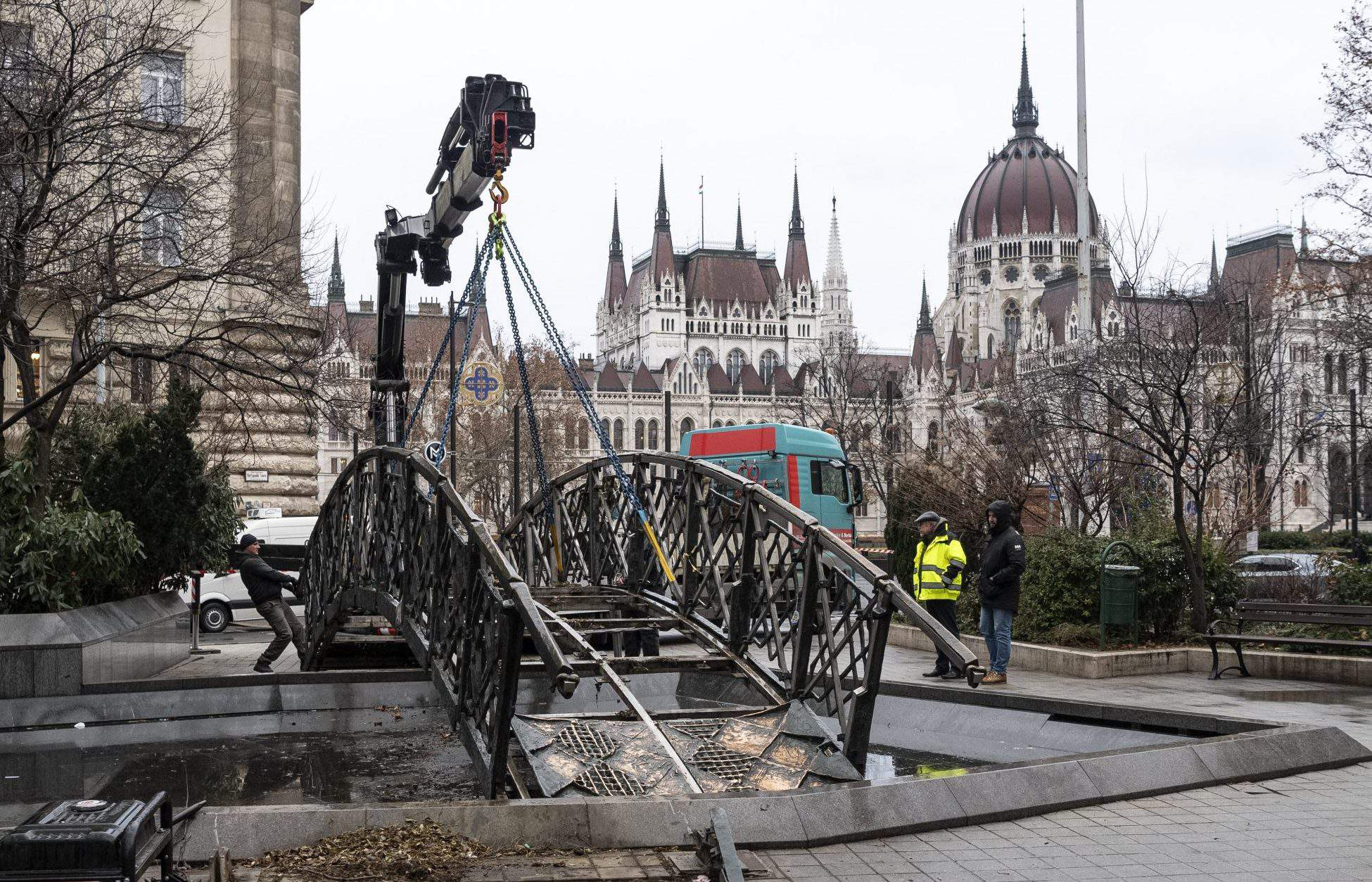Imre Nagy statue Budapest Hungary