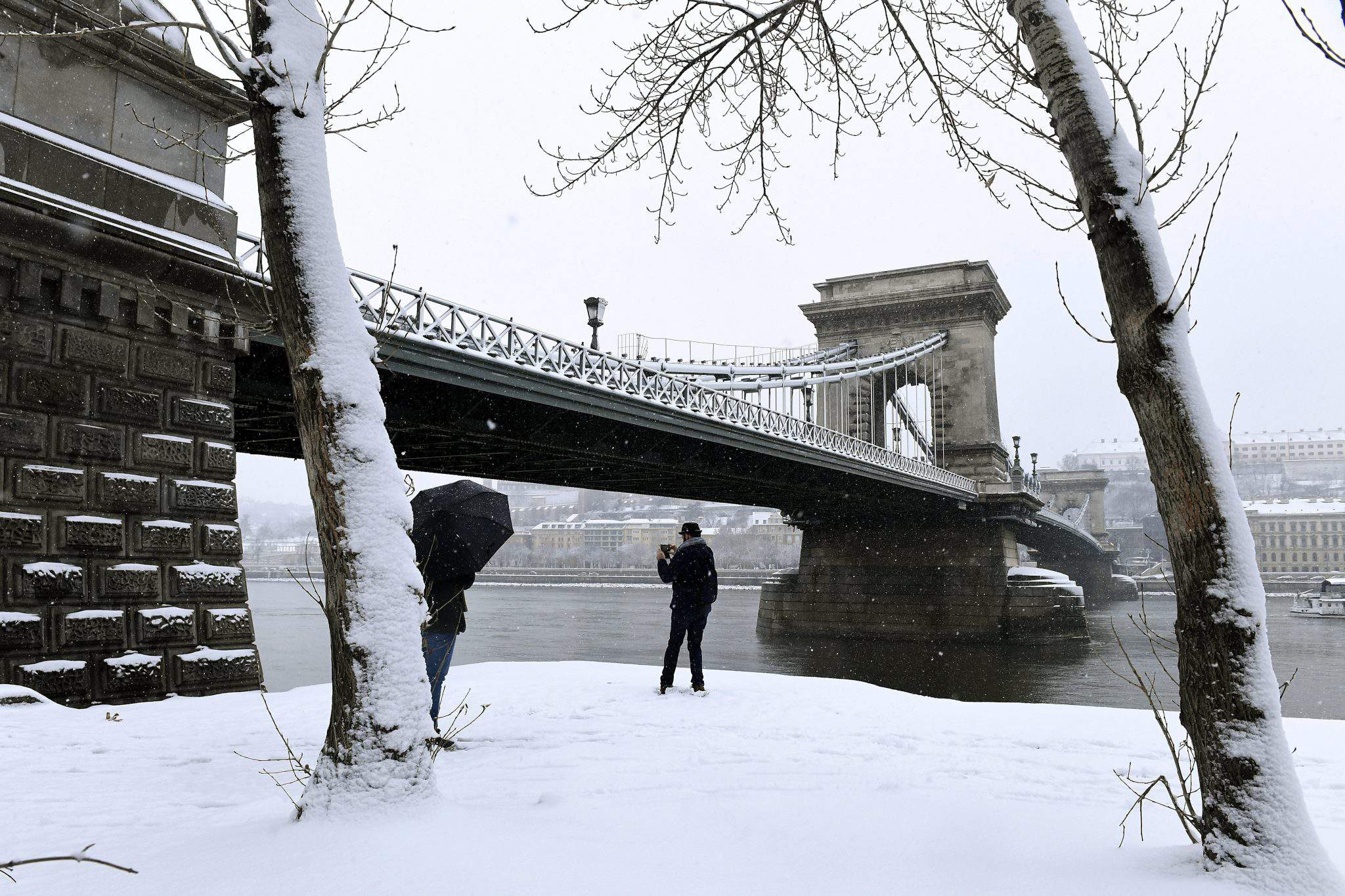 Budapest snow winter