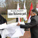 Park named after Adam Mickiewicz inaugurated in Budapest