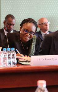 H.E. Dr. Ms. Eniola Olaitan Ajay, Ambassador of Nigeria