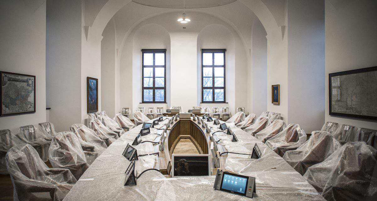 Baroque frescoes fell victim to the renovation in Orbán's new office?