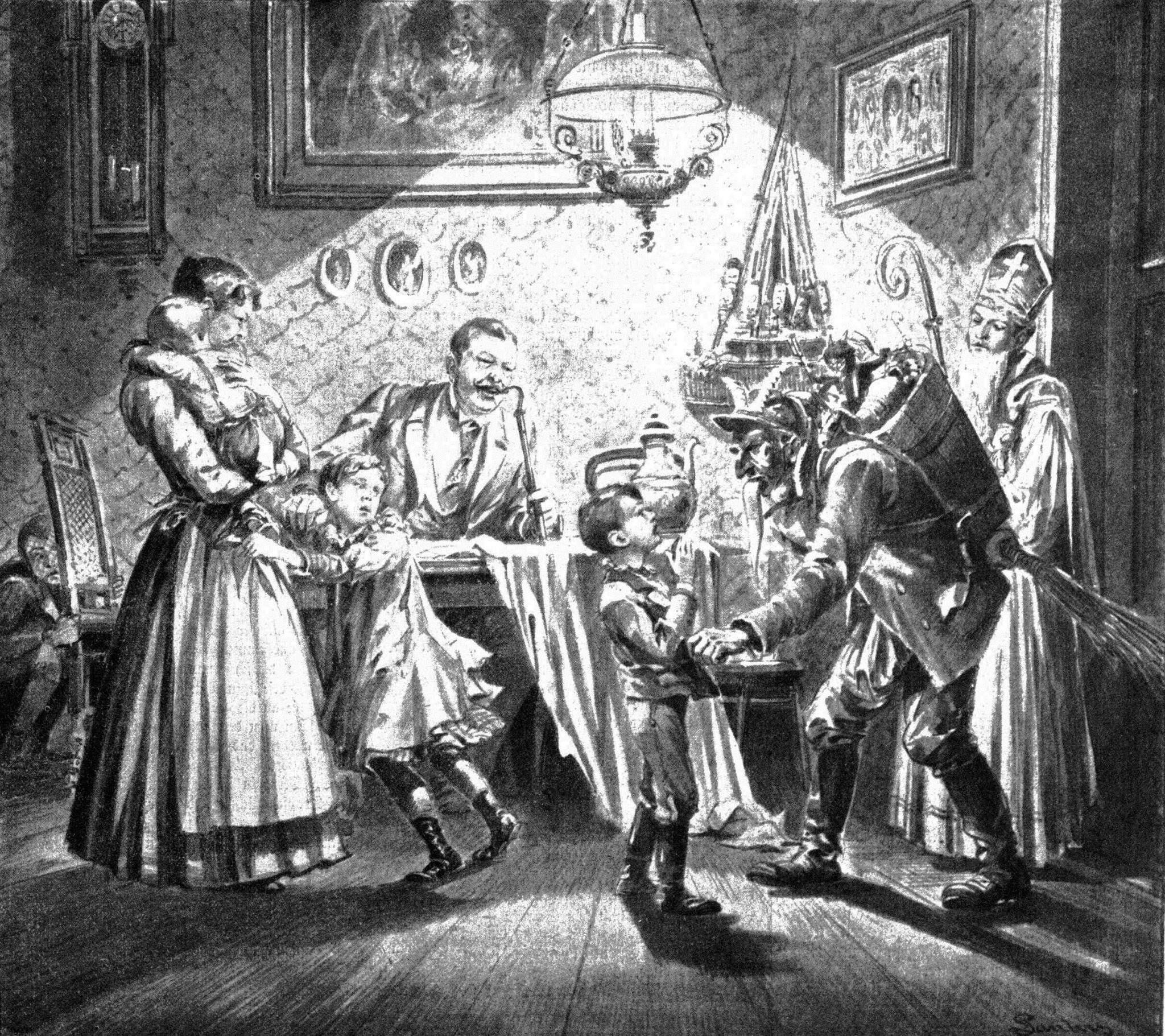 Krampus, children, Christmas, tradition
