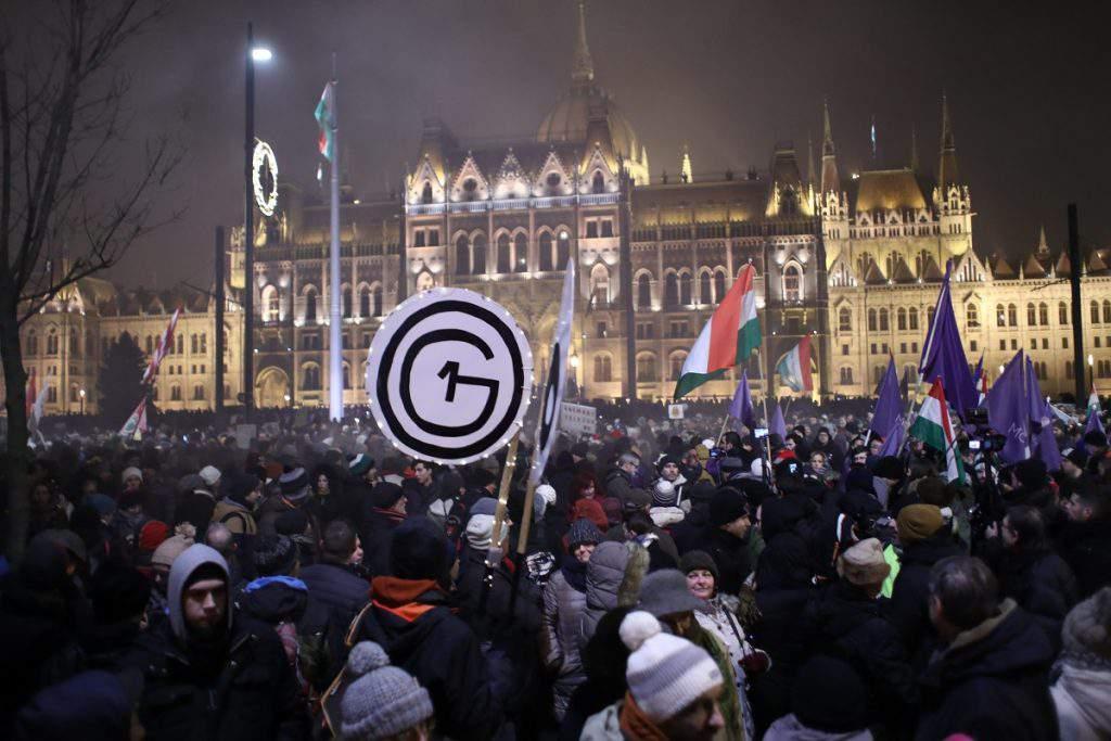 demonstration Budapest