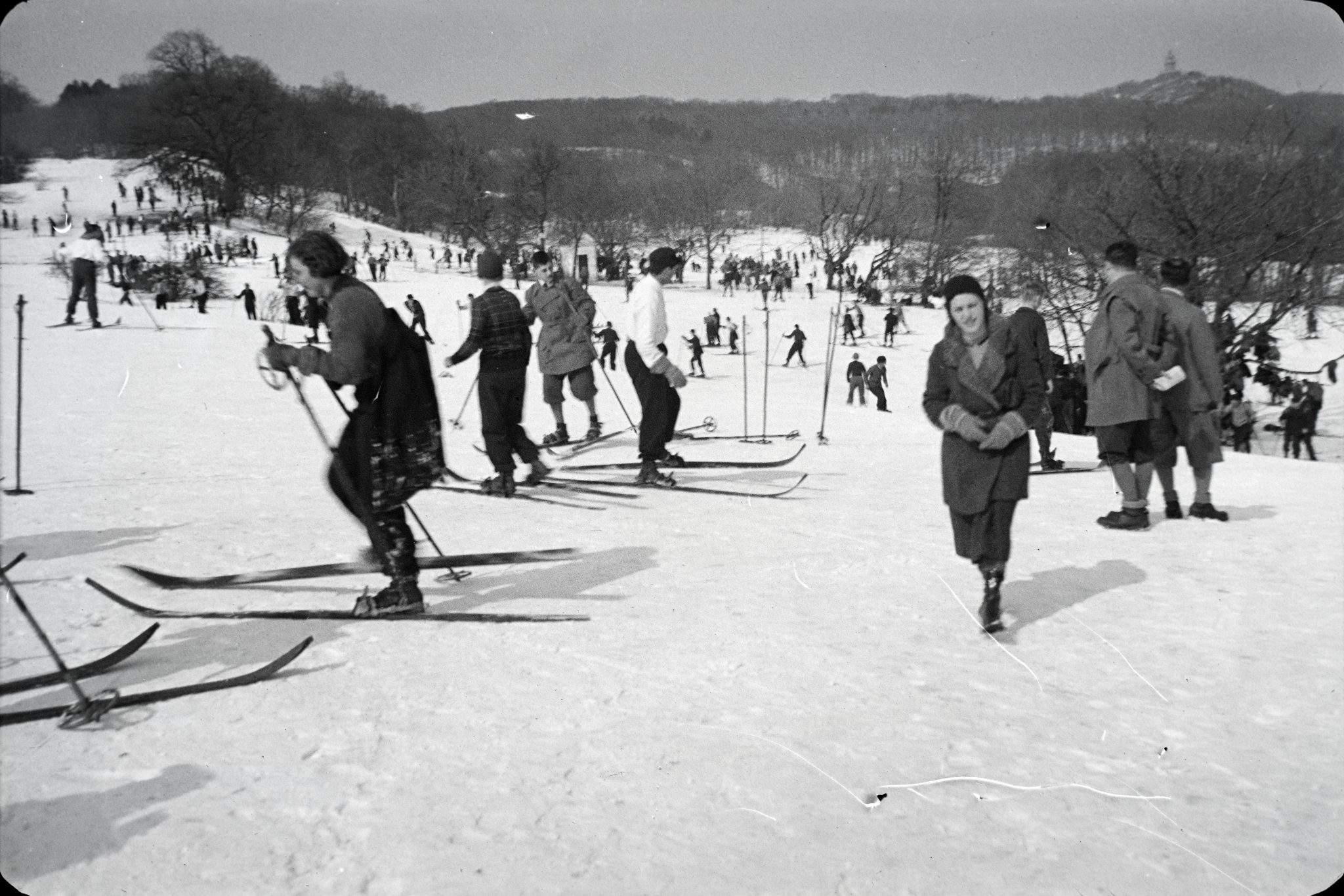 Ski Síelés Fortepan