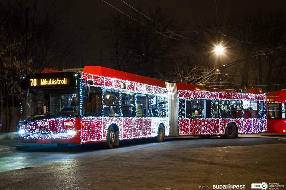 santa claus trolley Budapest