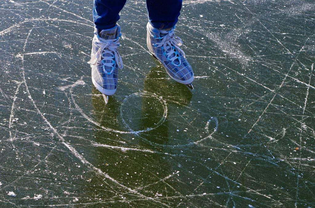 ice, skating, fun