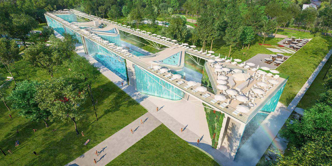 The construction of Hungary's most innovative bath has started