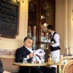 Viktor Orbán haing breakfast